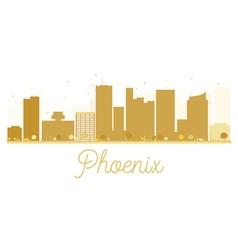 Phoenix city skyline golden silhouette vector