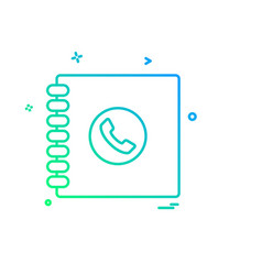 phone book icon design vector image