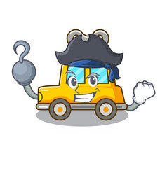 Pirate character clockwork car for toy children vector