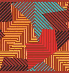 Retro geometric seamless pattern vector