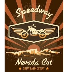 Retro Speedway Nevada Cut Graphic Design vector