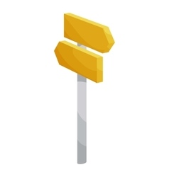 Road signpost icon cartoon style vector
