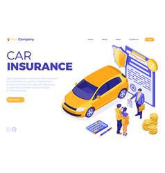 Sale insurance rental sharing car isometric vector