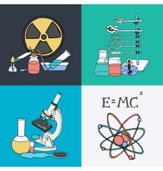 Science sketch icons vector