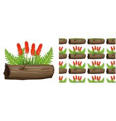 Seamless background design with aloe vera vector