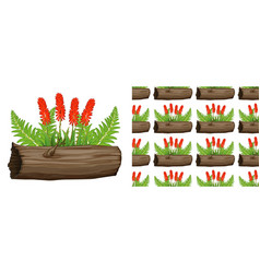 Seamless background design with aloe vera with vector