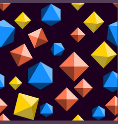 Seamless pattern with orange blue and yellow vector