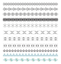 set calligraphic design borders elements vector image