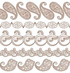 set ethnic design elements vector image