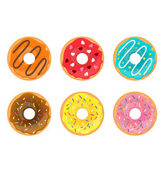 set of doughnuts vector image
