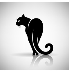 Stylized Black Cat vector