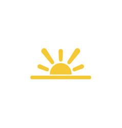 sun sea icon - simple element summer concept sun vector image