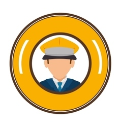 Taxi driver avatar character vector
