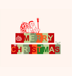The text merry christmas vector