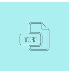 TIFF image file extension icon vector image