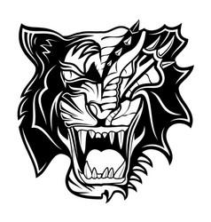 tiger dragon vector image