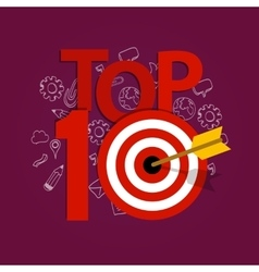 Top ten 10 list winner achievement target best vector