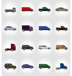 transport flat icons 17 vector image