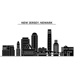 Usa new jersey newark architecture city vector