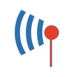 Wifi icon wireless internet sign communication vector