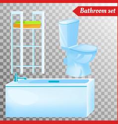 bathroom interior furniture equipment vector image