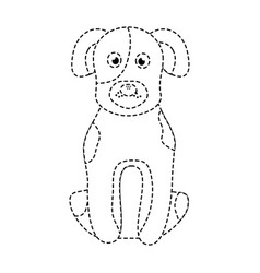 cartoon dog sitting pet animal vector image