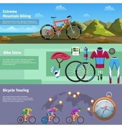 Extreme mountain biking bike store bicycle vector
