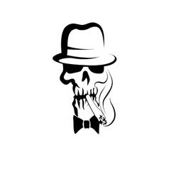 Gentleman skull vector image