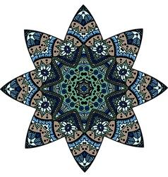 mandala star vector image vector image