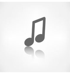 Music note icon Musical background vector image