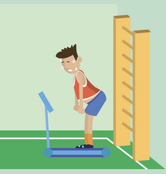 people tired of running on the treadmill vector image