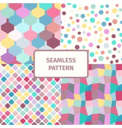 Seamless abstract geometric pattern set vector image