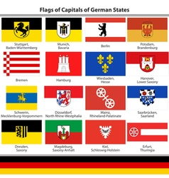 Flags of capitals of German states vector image