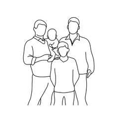 gay family with two children vector image vector image