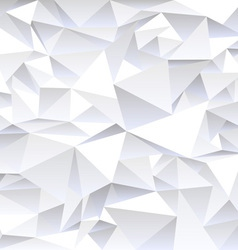 Grey crumpled abstract background vector image vector image