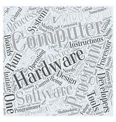 hardware development and computer programming Word vector image vector image