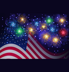 independence day 4th of july background vector image vector image