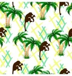 Palm trees monkeys Seamless vector image