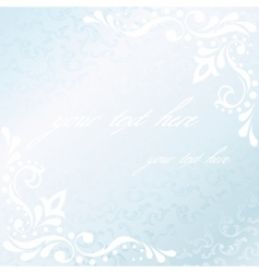 square Victorian white satin frame vector image vector image