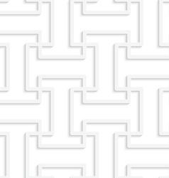 White 3D T shape grid vector image vector image