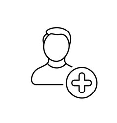 account add create man new profile user icon vector image vector image