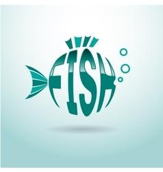 Fish logo ball vector image