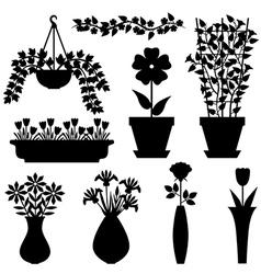flower pot vasone vector image