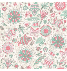 Seamless pink summer pattern vector image vector image