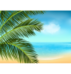summer sea and palm tree background landscape2 vector image vector image