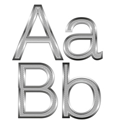 thin diamond metal letters on white 01 vector image vector image