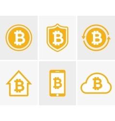 bitcoin logo Bitcoin icon Bitcoin cloud vector image