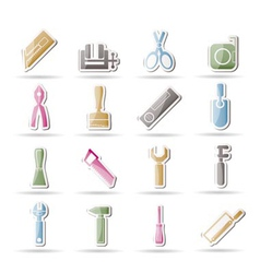 Building tool icons vector