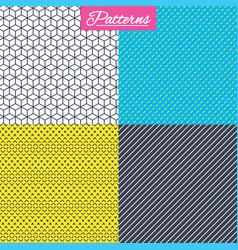 cubes dashed diagonal lines seamless textures vector image vector image