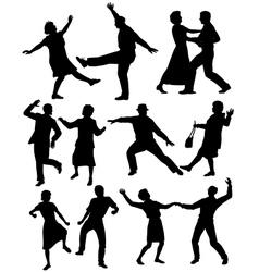 Elderly people dancing vector image